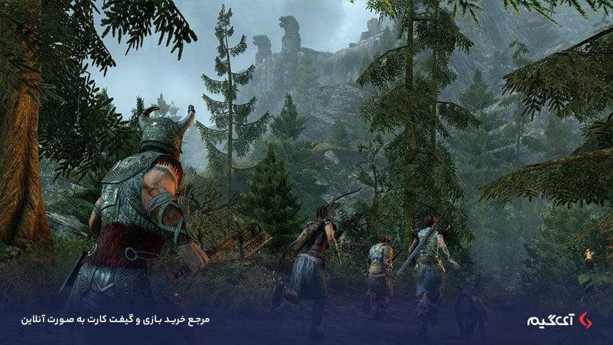 حالت مولتی پلیر گسترده آنلاین بازی The Elder Scrolls Online