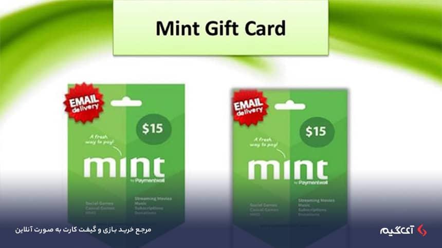 مینت کارت یک کد 16 رقمی است و در این روش شما مستقیما به فروشگاه میروید و آیتم خود را خریداری میکنید.